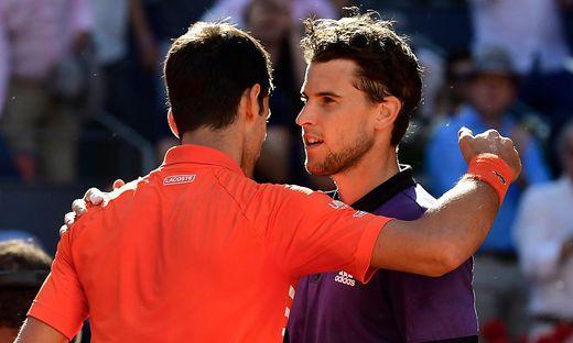 Novak Djokovic und Dominic Thiem