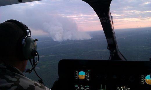 Das Feuer auf einer Fläche von 130 Hektar war am vergangenen Montag nahe der Sperrzone im Radius von 30 Kilometern um die Anlage ausgebrochen