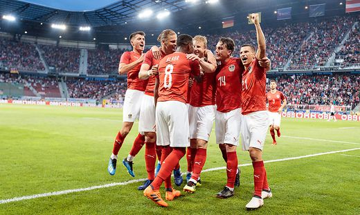 Österreich feiert den Sieg über Deutschland