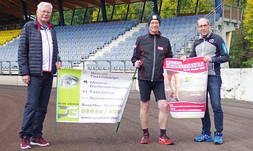 Karl Heinz Hary, Ulf Tomaschek und Christian Mayer (v. l.) stellten das Sportprogramm für den 26. Oktober vor