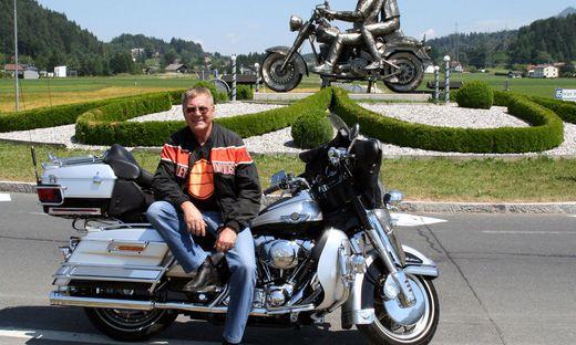 Gram war begeisterter Harley-Fahrer