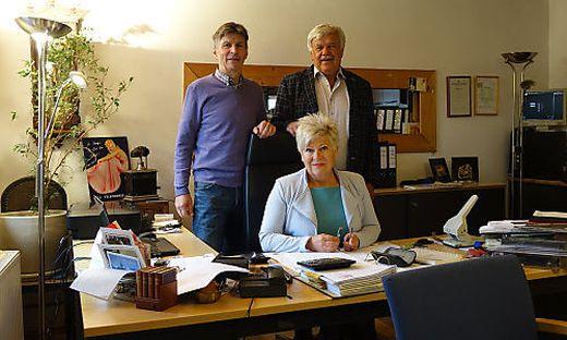 Das Ehepaar Liendl mit Otto Edelsbacher (l.)
