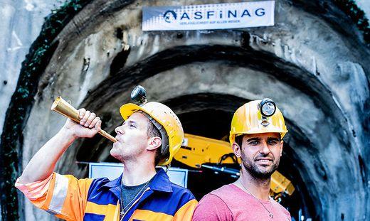 ASFINAG Anschlagfeier A11 Karawankenautobahn 2. Roehre Karawankentunnel am 18. September 2018