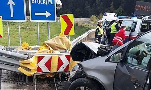 Unfall am Schnellstraßen-Zubringer Kapfenberg