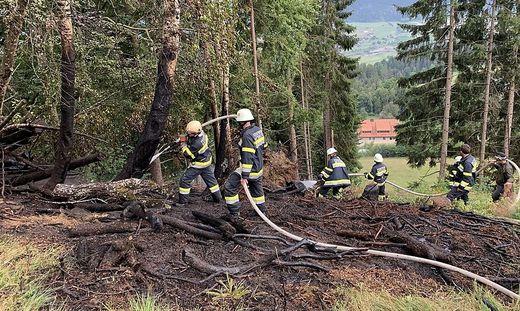 Der Waldbrand in Kreuth konnte rasch gelöscht werden