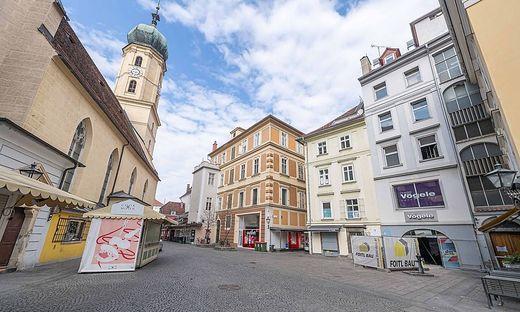 Leergefegt: Die Grazer Innenstadt