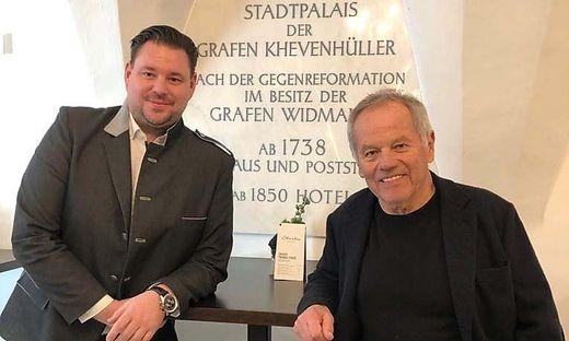 Starkoch Wolfgang Puck mit Hotel-Palais-26-Direktor Mario Gruber