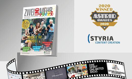 """GOLD fuer die Styria Content Creation und ihren Film """"150 Jahre Styria Media Group"""" bei den ASTRID AWARDS"""