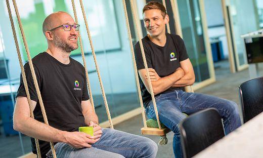 Chris Werding und Martin Moschitz, Standortleiter von Dynatrace in Graz