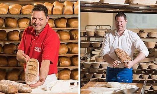 Die Bäckermeister Stocklauser (rechts) und Vallant