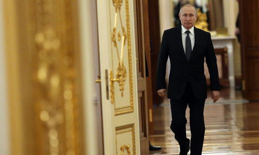 Russian President Vladimir Putin meets winners of the Leaders of Russia contest