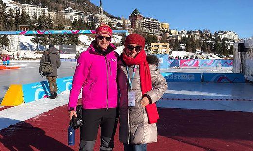 Vanessa Herzog traf in der Schweiz Emese Hunyady (rechts)
