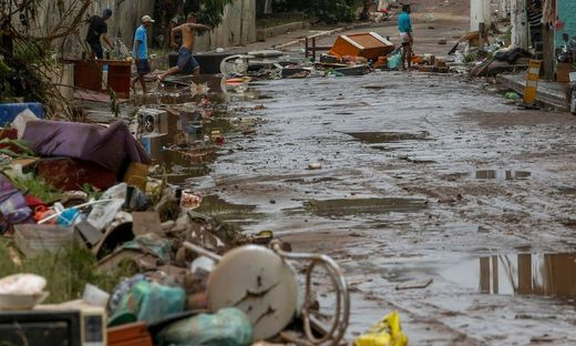 Die Schäden nach den Überflutungen in Sao Paulo sind massiv