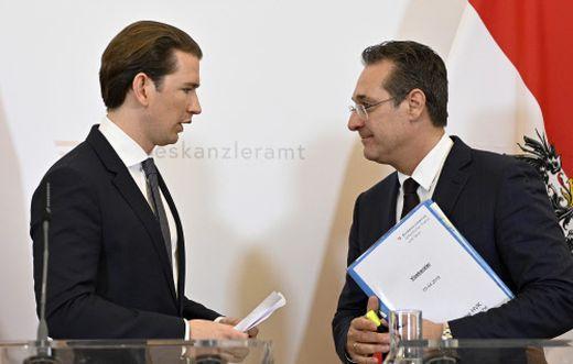 Bundeskanzler Kurz und Vizekanzler Strache