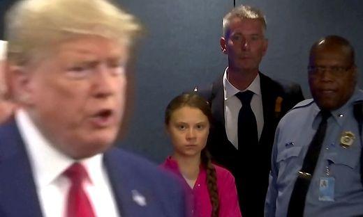 Thunberg und Trump bei der UN-Vollversammlung