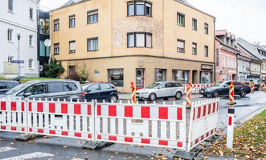 Klagenfurt St. Veiter Straße Sperre Sanierung