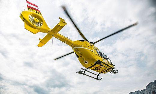 Der Verletzte wurde vom Rettungshubschrauber C11 ins UKH Klagenfurt geflogen