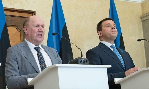 Rechtspopulistenchef Helme, Premier Ratas