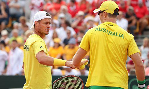 Lleyton Hewitt (links) führt das australische Team in Graz an