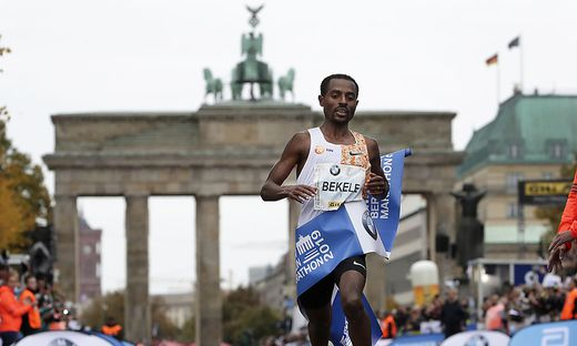 Bekele gewann am Sonntag den Berlin-Marathon