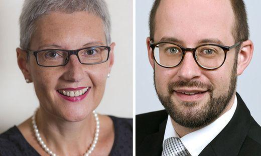 Neues Führungsduo: Theologin Edith Maria Prieler und Jurist Matthias Rauch
