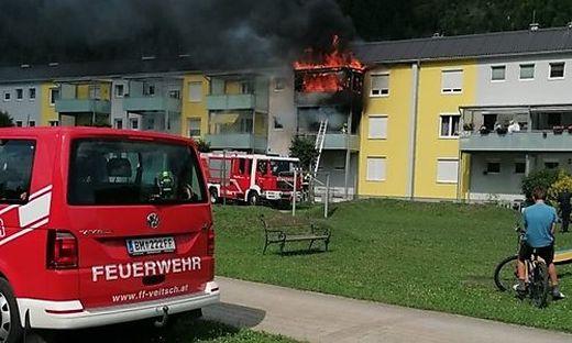 Das Öl löste einen Großbrand in der Wohnung aus