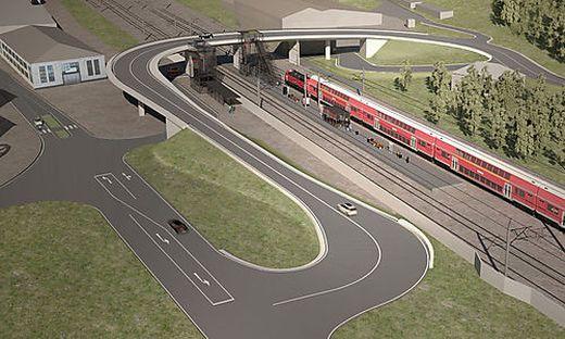 So sieht der Bahnhof Wartberg künftig aus
