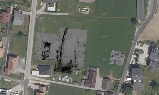 Diese Siedlungsstruktur wurde mitten im Zentrum von Globasnitz entdeckt