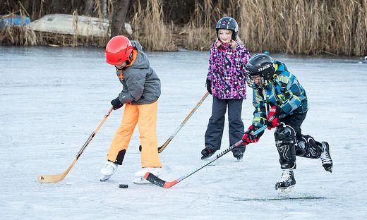 Rauschelesee Eislaufen