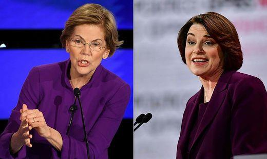 """Die Favoritinnen der """"New York Times"""": Elizabeth Warren und Amy Klobuchar"""