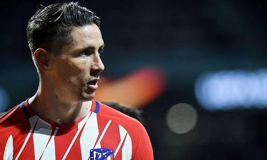 Atletico Madrid v Arsenal UEFA Europa League Semi Final Fernando Torres of Atletico Madrid during th