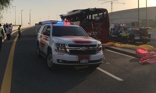 Dubai: 17 Tote nach schwerem Unfall mit Touristenbus aus dem Oman