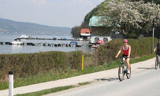 Radfahrer am Wörthersee