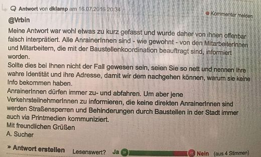 """Dieses Posting hat Andreas Sucher alias """"dklamp"""" auffliegen lassen"""