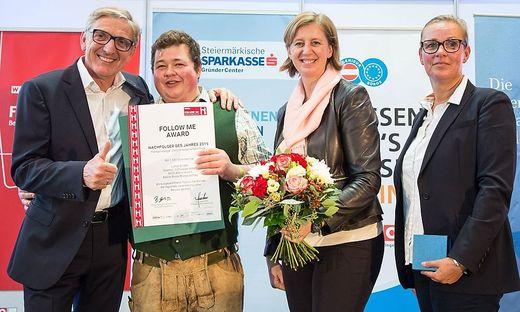 Lukas Gruber wurde im Zuge des Unternehmertags ausgezeichnet