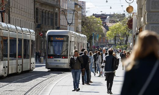 50 Prozent der an normalen Samstagen üblichen Innenstadtbesuchern zählte das City-Management gestern.