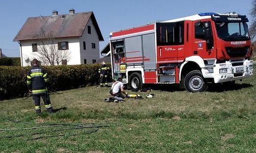 Die FF Eberndorf stand in Gösselsdorf im Einsatz