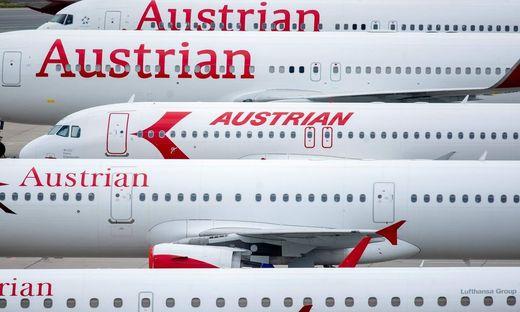 Bei der AUA bleiben vorerst viele Flugzeuge am Boden