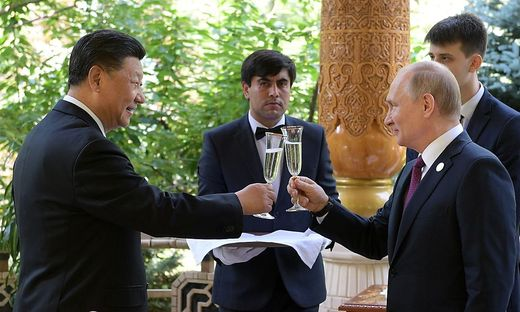 Chinas Staatschef Xi Jinping und Russlands Präsident Wladimir Putin