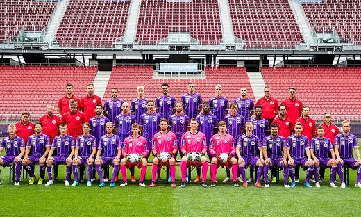 Die Mannschaft des SK Austria Klagenfurt ist bereit für das erste Pflichtspiel dieser Saison