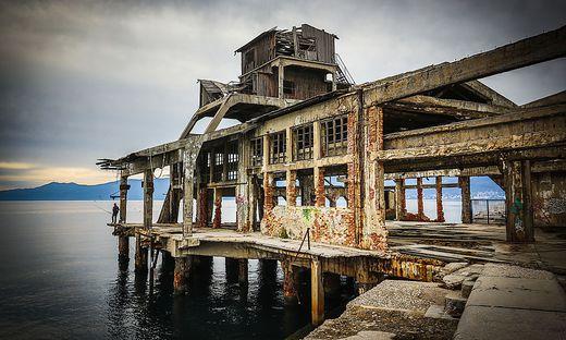 Ruine der Torpedoabschussrampe in Rijeka