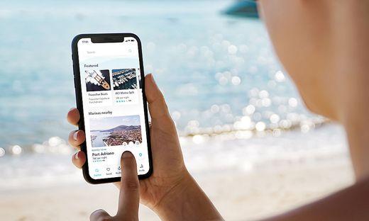 Mit der App kann man Liegeplätze in nahen Marinas buchen