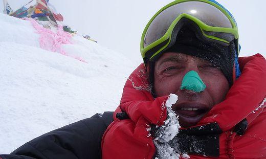 Hans Wenzl auf dem Mount Everest