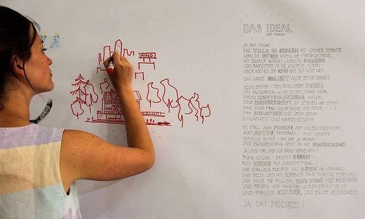 Partizipative Architektur: Gemeinsam werden Ideen gesammelt, wie in Graz gewohnt werden könnte