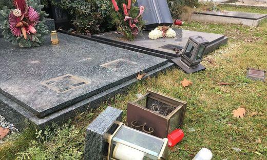 Dutzende Gräber wurden von der Frau schwer beschädigt