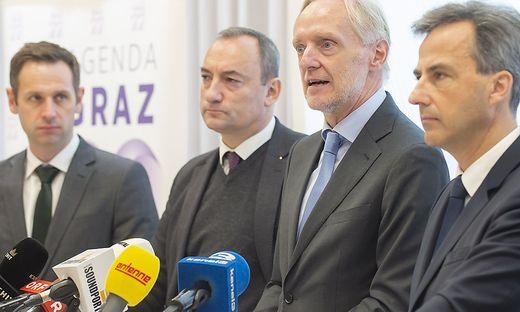 Armin Sippel und die FPÖ sind auch in Fragen der Menschenrechtsstadt nicht mehr auf Nagls Koalitionslinie ...