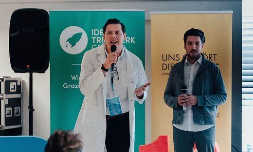 """Holten sich den Sieg beim heurigen """"Start-up Playground"""": Manuel Leal Garcia und Daniel Jukic"""