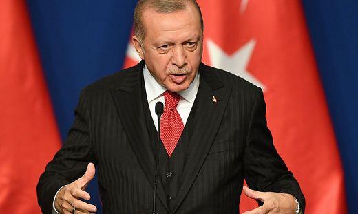 Erdogan am Rande seines Besuchs bei Orban in Budapest