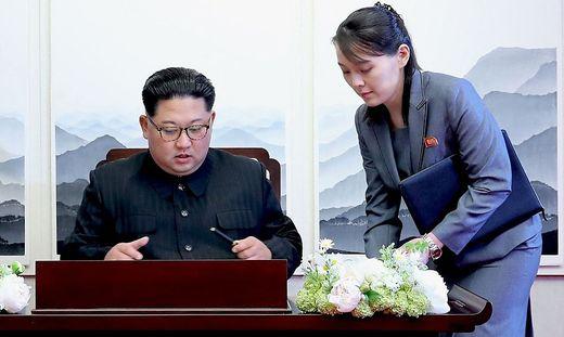 Kim Jong-un und seine Schwester Kim Yo-jong