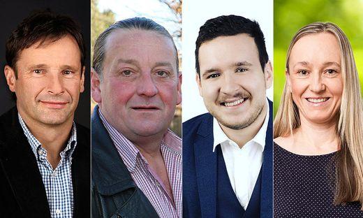 Franz Silly, Peter Hütl, Konstantin Leitinger und Katharina Wicher sind die Spitzenkandidaten in St. Martin
